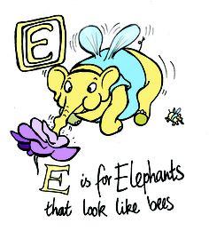 #wonderland #aliceinwonderland #curiouserinwonderland #illustration #elephant #alphabet