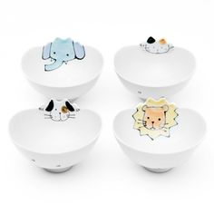 Can't choose which ones I want to keep me company while eating :) Cute animal porcelain bowls on poketo.com. $16.00.