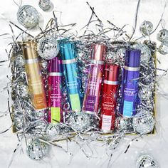 The easiest way to get party-ready from head to toe! Introducing our NEW Hair & Body Shimmer Spray!