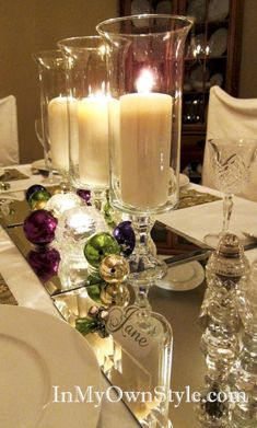 Breathtaking 43 Decoration Christmas Table Centerpieces with Candles https://toparchitecture.net/2017/12/04/43-decoration-christmas-table-centerpieces-candles/