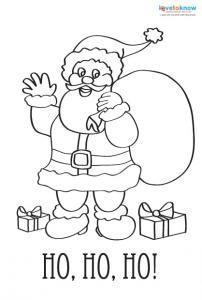 Printable Coloring Christmas Cards 1