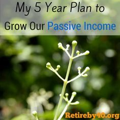 My 5 Year Plan to Grow Our Passive Income