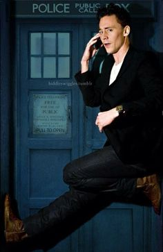 Tom HIddleston with the Tardis...I can't even... This should be completely real.