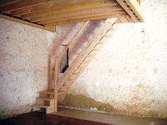 Echelle de menuisier sous mezzanine sans perte espace ds pièce?