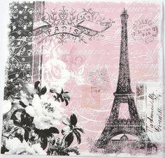 2 SERVIETTES EN PAPIER CHATS DE PARIS EN MEDAILLONS 2 PAPER NAPKINS PARIS CATS