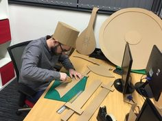 These Guys Built A Giant Cardboard Fortress In Their Office