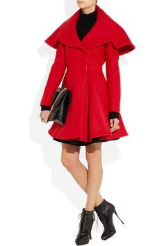 Alexander McQueen|Wool-felt coat|NET-A-PORTER.COM