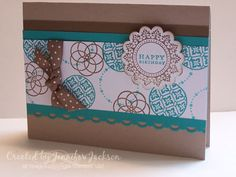 Circle Birthday card by jenniferstamp04 - Cards and Paper Crafts at Splitcoaststampers
