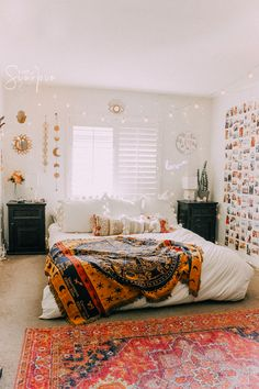 Cozy up with the Cosmos in the Zodiac Wheel blanket! Care + Content Available for shipment (between) December 2019 Colors: Ivory and Yellow Material: Polyester + Cotton Size: 51 Bohemian Bedroom Decor, Boho Room, Crystal Bedroom Decor, White Bohemian Decor, Bohemian Dorm Rooms, White Room Decor, Bohemian Furniture, Moroccan Bedroom, Vintage Bohemian