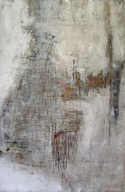 """The Art Out There: Jeane Myers """"Far South of Dawn""""  oil and cold wax on panel  36"""" x20"""""""