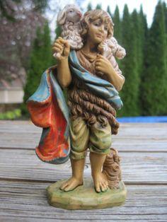 "Vintage Italy Shepherd Boy Nativity Sheep Lamb 130 10 Standing Italian 5"" Resin | eBay"