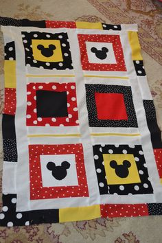 My disney quilt  -copied someone else, but it was great, not finished here