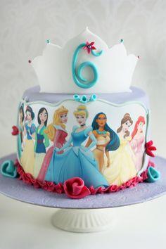 Princess Birthday Centerpieces, Princess Wedding Cakes, Disney Princess Birthday Cakes, Baby Girl Birthday Cake, 4th Birthday Cakes, Princess Theme, Jasmine Cake, Prince Cake, Disney Cakes