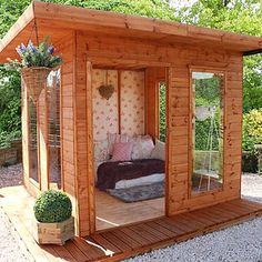 Buy Summer Houses from Waltons. Our garden summerhouses are made from high quality timber and come with a 10 year anti rot guarantee. Free uk delivery available. Backyard Studio, Backyard Sheds, Summer House Garden, Home And Garden, Summer Houses Uk, Outdoor Spaces, Outdoor Living, Summer House Interiors, Tiny Cottages