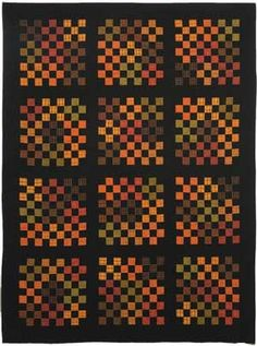 Pumpkin Patch Plaids  Nine Patches galore! Capture the colors of autumn leaves using homespun plaids.