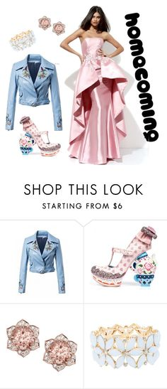 """""""Homecoming: Alice Style"""" by magick-socks ❤ liked on Polyvore featuring Irregular Choice, Charlotte Russe and Homecoming"""
