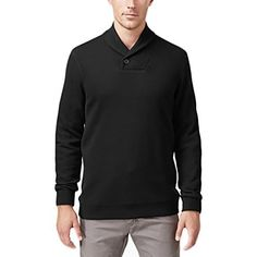 """Product review for Tasso Elba Men's Solid Shawl-Collar Sweater in Deep Black.  Upgrade your weekend look with Tasso Elba's essential cool and comfortable shawl-collar sweater.       Famous Words of Inspiration...""""A maxim is the exact and noble expression of an important and indisputable truth. Good maxims are the germs of all excellence; when..."""