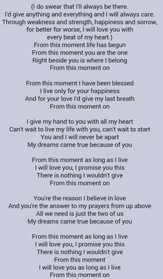 Shania Twain From This Moment On With Images Love Song