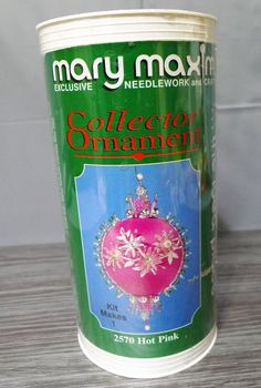 Mary Maxim Collector Christmas Ornament Kit Hot Pink Satin Beads Sequins #2570 | eBay
