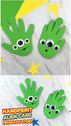Learn how to make these easy DIY alien cards from Toy Story 4 for Dad and Grandp., crafts Learn how to make these easy DIY alien cards from Toy Story 4 for Dad and Grandp. Kids Crafts, Daycare Crafts, Toddler Crafts, Tree Crafts, Decor Crafts, Easy Preschool Crafts, Easy Crafts, Fathersday Crafts, Alien Crafts