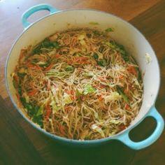 Happy Jack Eats: Mom's pancit recipe.