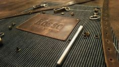 Apron leather denim