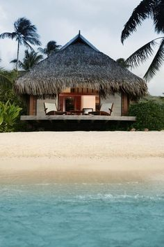 Looks heavenly. Beachside bungalow #travel #beach