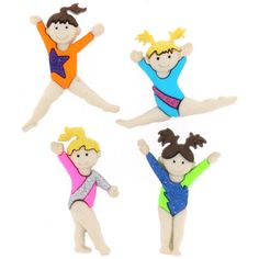 Gymnast Novelty Buttons by Universalideas on Etsy, $2.60  These unique Gymnasts novelty buttons are ready to enhance your knitting, crocheting, sewing, quilting or craft project.  • Button is a snap-together with a self shank  • COLOR: Assorted shades, as shown in the picture.  • Price by TWO Piece https://www.etsy.com/listing/127844346/gymnast-novelty-buttons?ref=shop_home_active