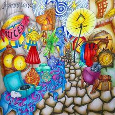 From Lizzie Mary Cullen's The Magical City. Coloured with Prismas... #lizziemarycullen #magicalcities #магиягородов #themagicalcity #magicalcitycoloringbook #coloringmasterpiece #desenhoscolorir #colorindolivrostop #prazeremcolorir #bayan_boyan #artecomoterapia #boracolorirtop #livrocoloriramo #arte_e_colorir #colorindomeujardimencantado #moncoloriagepouradultes #kleurenvoorvolwassenen #adultcoloringforum #раскраскидлявзрослых #раскраскиантистресс