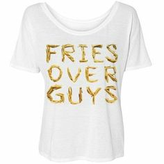 Fries Over Guys: Bella Flowy Simple T-Shirt, http://www.amazon.com/dp/B00G4MW4SY/ref=cm_sw_r_pi_awdm_55iGtb1H3ANCB