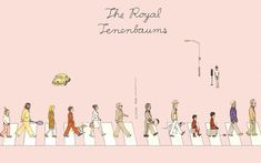 The Royal Tenenbaums, Wes Anderson. The Beatles style. La Famille Tenenbaum, Wes Anderson Movies, The Royal Tenenbaums, Leo, Web Design, Graphic Design, Moonrise Kingdom, Tumblr, Libros