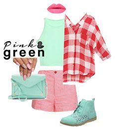 """""""Pink& green"""" by eshlychenko ❤ liked on Polyvore featuring beauty, George J. Love and Apt. 9"""