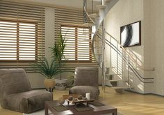 Use #Cedar #Shutters for extra ordinary look in your home interior.