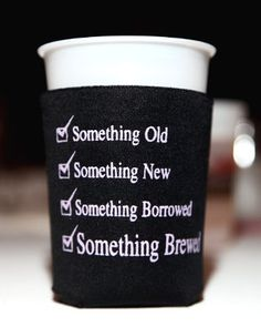 wedding koozies, these are great.