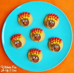 Reese's Turkey Cookies that the kids can help make themselves!