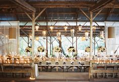Reception Barn //  Photo: Braedon Flynn Photography // Feature: The Knot