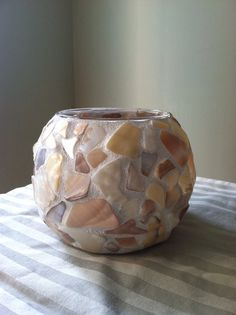 Broken Shell Candle Votive on Etsy, $10.00