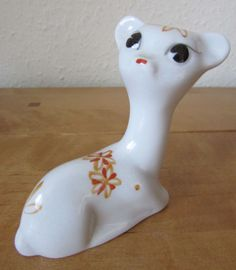 FAB RARE VINTAGE CUTE & QUIRKY RETRO KITSCH BAMBI DEER FAWN ORNAMENT
