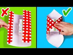 25 easy gift wrapping ideas and hacks Easy Diy Gifts, Diy Gift Box, Simple Gifts, Creative Gifts, Paper Gift Bags, Paper Gifts, Christmas Gift Wrapping, Diy Christmas Gifts, Christmas Videos