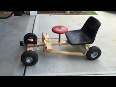 How to make a wooden Go Kart with bike wheels - YouTube