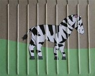 Thought of you with the nanny kids.    Zoo craft!  Have kids color an animal (or draw), punch holes, and have them lace the cage with yarn for a zoo craft. Perfect for after our field trip to the Zoo!