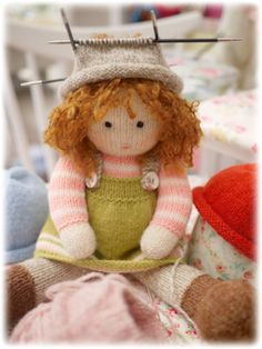 Knitter, crocheter, pattern writer and photographer of MJT designs. Knitting Patterns Free, Knit Patterns, Free Knitting, Baby Knitting, Knitting Toys, Knitted Dolls, Crochet Dolls, Knit Crochet, Christmas Toys