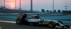 As the sun set on the Yas Marina Circuit, Hamilton's lightening start saw him take the lead early on