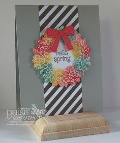 Debbie's Designs: Hello Spring Emboss Resist & New Video!  Video tutorial in the post. https://www.youtube.com/watch?v=Pzx8zCWSArY