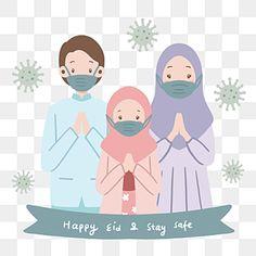 Eid Eid, Music Waves, Muslim Family, Eid Al Fitr, Arabic Pattern, Waves Background, Sheep Farm, Family Illustration, Happy Eid
