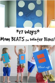 Winter can sometimes mean 'blah' days where you just gotta stay inside.  But you can still have fun!  Try these 17 ways mom beats the winter blahs!