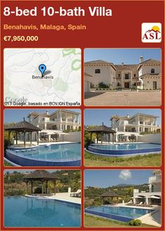 8-bed 10-bath Villa in Benahavis, Malaga, Spain ►€7,950,000 #PropertyForSaleInSpain