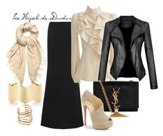 Beige and Black Hijab Outfit http://lehijabdedoudou.wordpress.com/