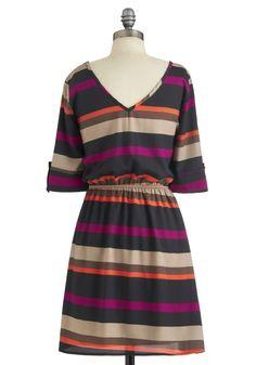 Sedona Stripes Dress   Mod Retro Vintage Dresses   ModCloth.com