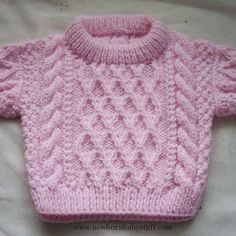 Baby Knitting Patterns Treabhair - PDF knitting pattern for baby or toddler cable s...